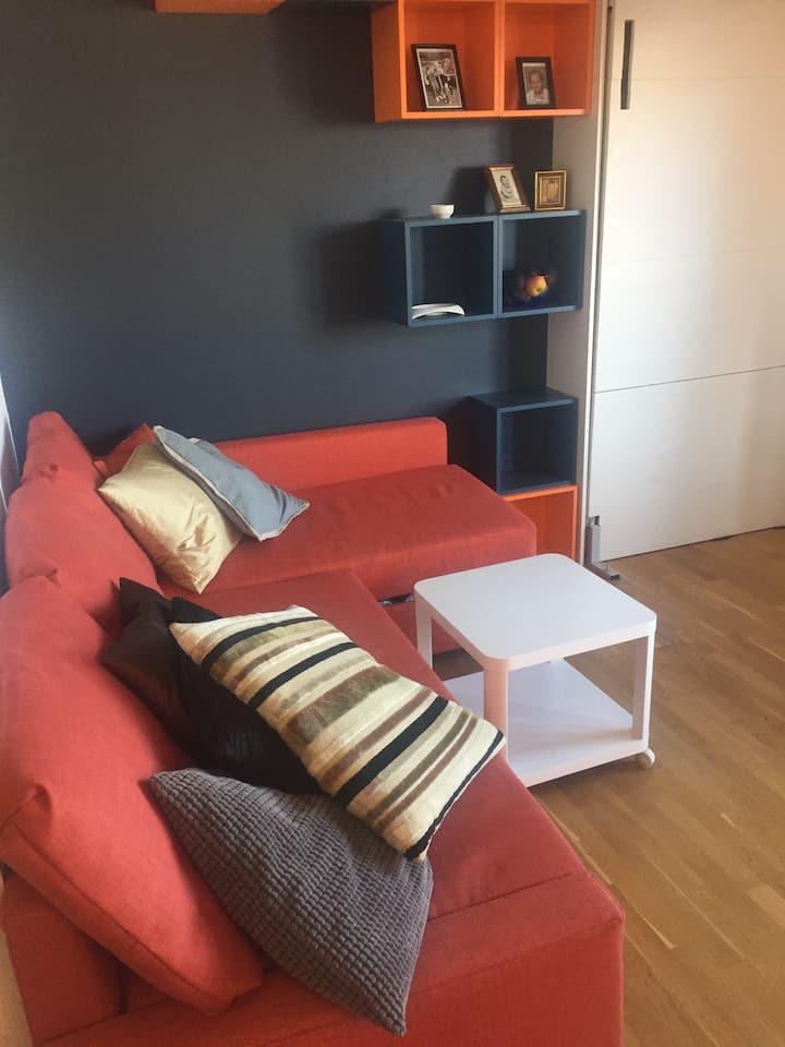 Studio leilighet i Gjøvik sentrum, 2 +2 pers