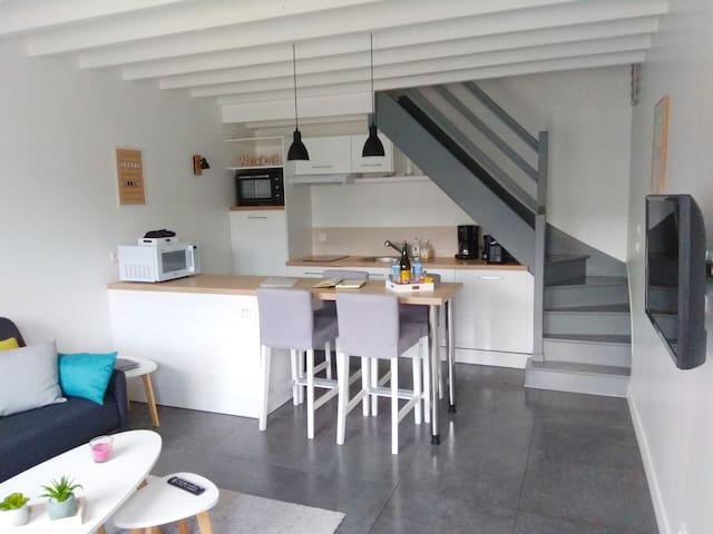 Espace Salon et cuisine ouverte