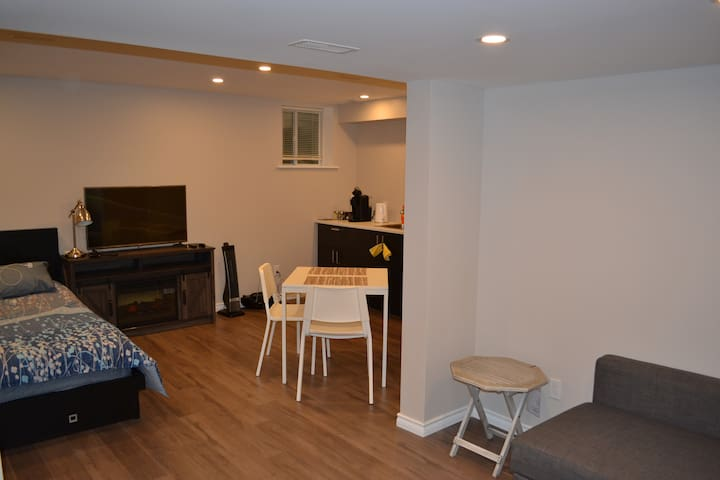 Beautiful, new basement  with a separate entrance