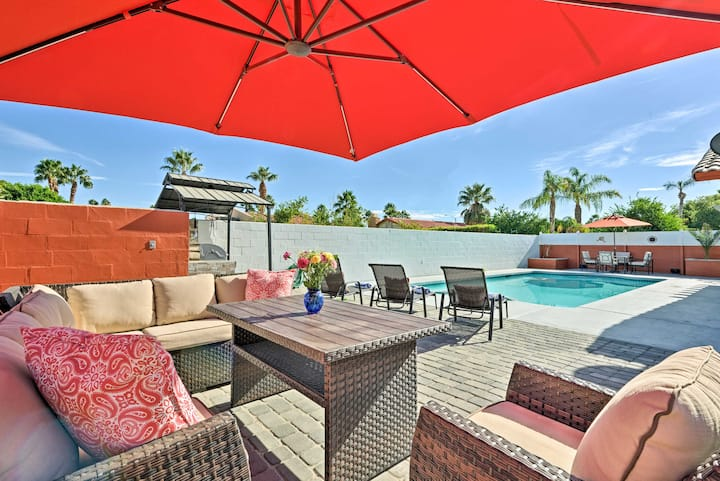 Updated Cathedral City Home w/Private Pool & Spa!