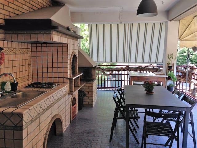 Grande casa al mare con terrazzo e pianoforte - Porto San Giorgio - Apartamento