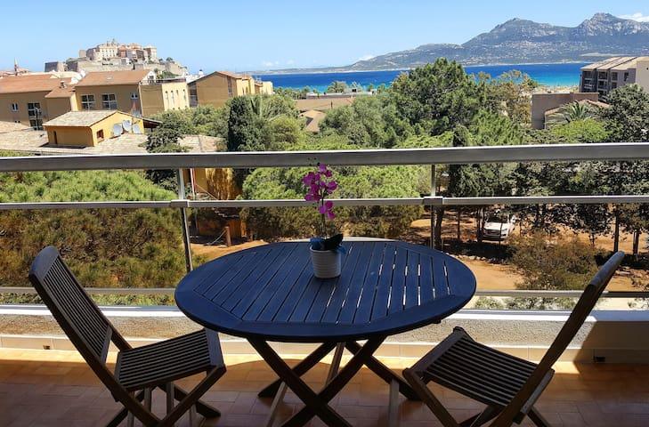 Studio + balcony 200 m CALVI beach, Casa Orsoni