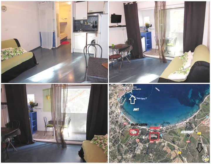 Studio 4p Calvi pinède 300m plage