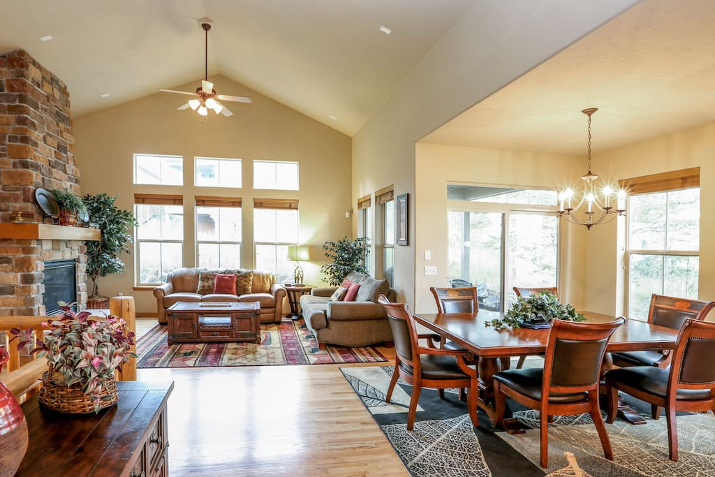 The open-concept living area encourages easy conversation.