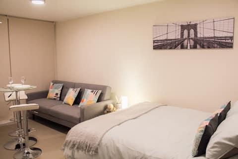 Confortable Home Studio en el centro de Santiago