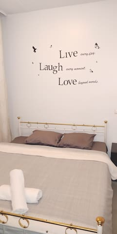 Sleep in a comfy double bed