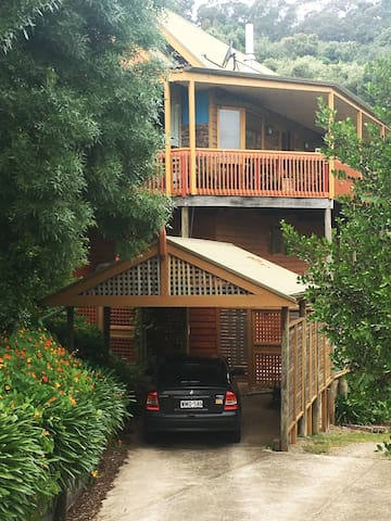 You will have your own carport.  Plus room for additional car if needed on the property