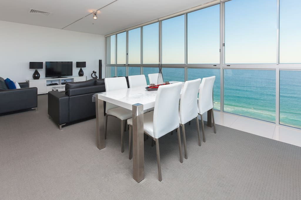 6 Seater Dining Over looking the beach