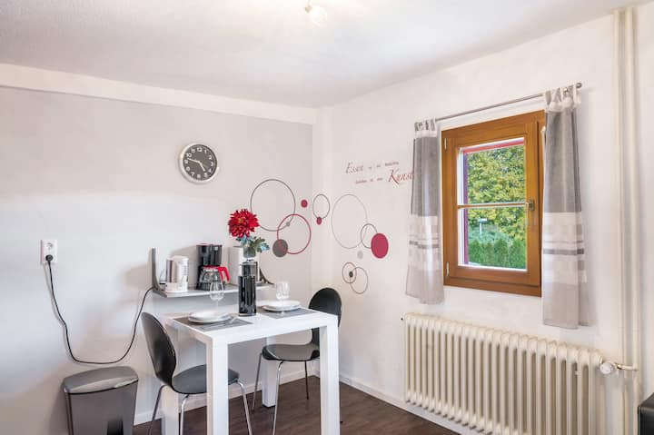 """Charming Holiday Apartment """"Kirchblick"""" close to Lake Constance with Mountain View, Wi-Fi & Garden; Parking Available"""
