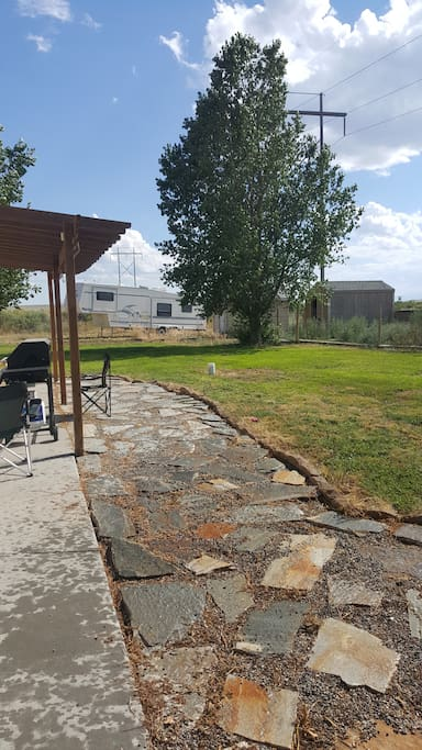 back yard fully accessible to campers