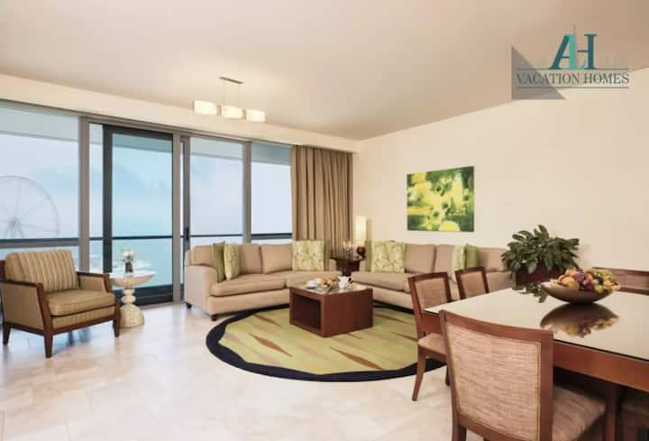 Sea View Luxury 3-Bedroom Hotel Apt in JBR