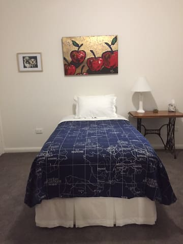 King single bed in second bedroom