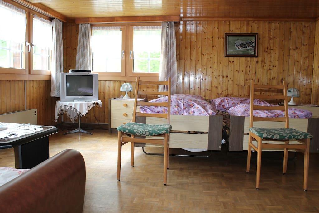 Schlafzimmer 1 mit Gildsteinofen