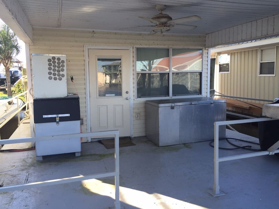 Deck-  Ice Machine, Grill, and Fish Cleaning Station