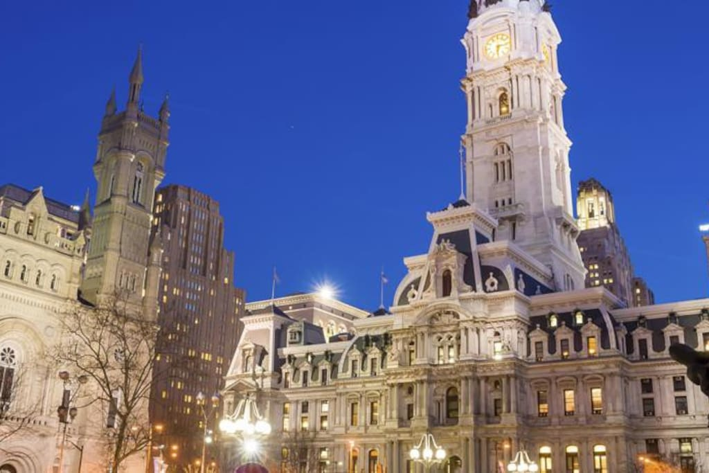 City Hall fewer than 6 minutes walk away.
