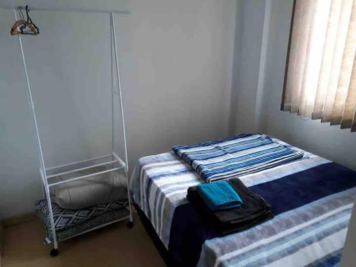 Apartamento completo 1 quarto - Shopping Estação