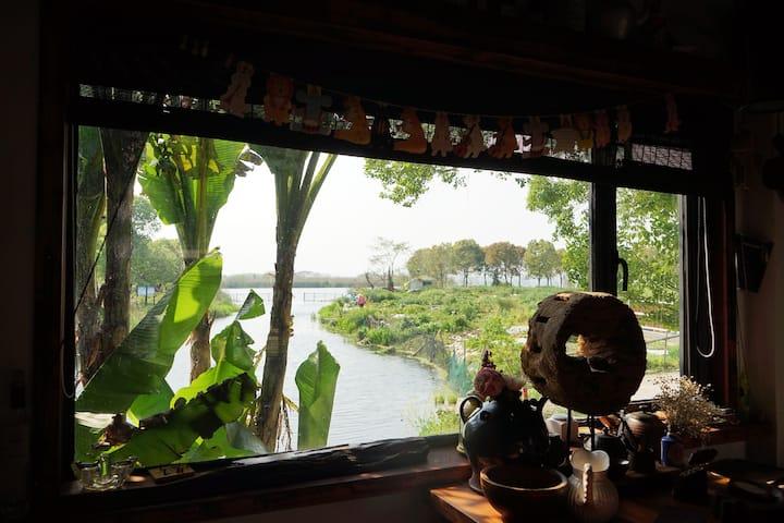 苏州阳澄湖畔·随之小院,不是农家乐, 四间客房(六张大床,一张单床)的独立小院,适住四家人或者13人