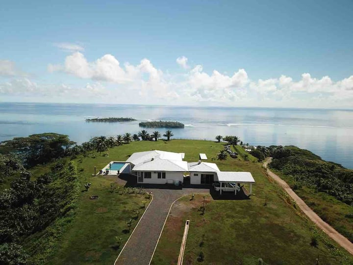 Villa Raiatea Lagon vue 360, 3 chambres, Piscine