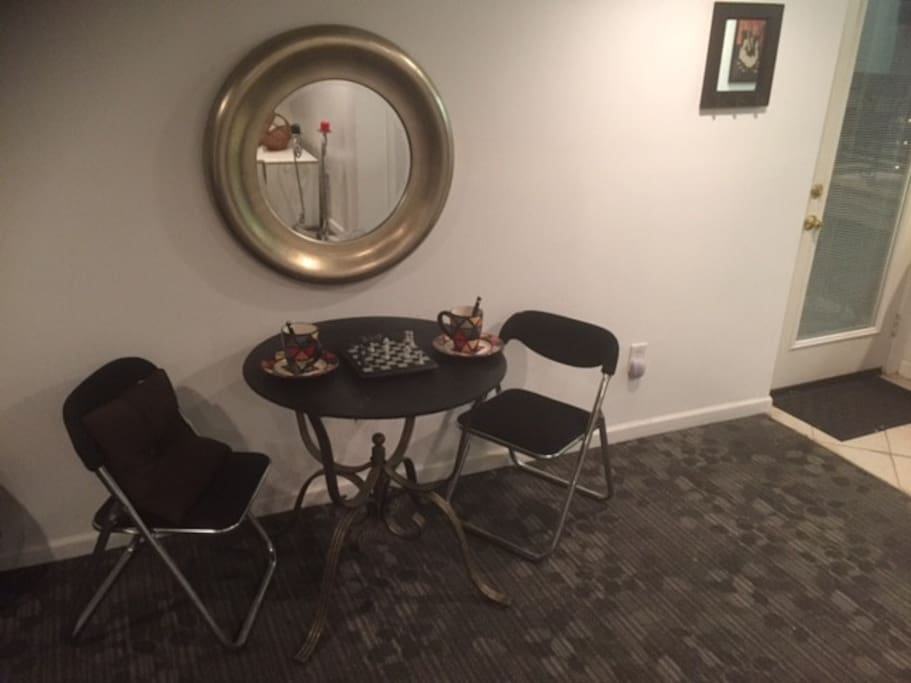 dining table (staged)
