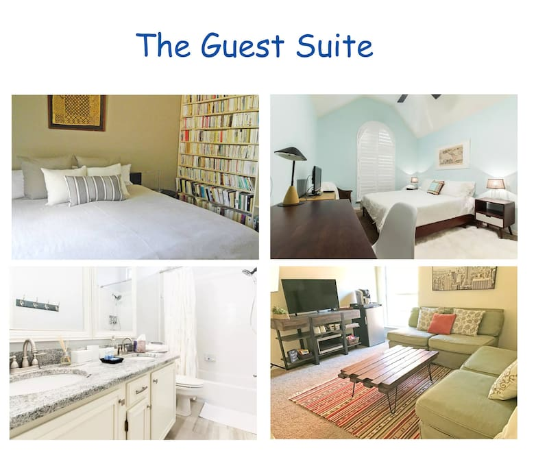 The Guest suite - 2 Bedrooms, Private Bathroom and Family Room -