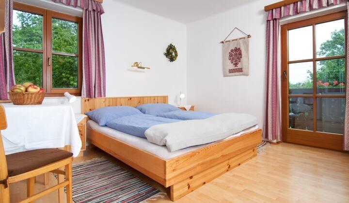 Doppelzimmer am Bio-Bauernhof Bauerborchardt