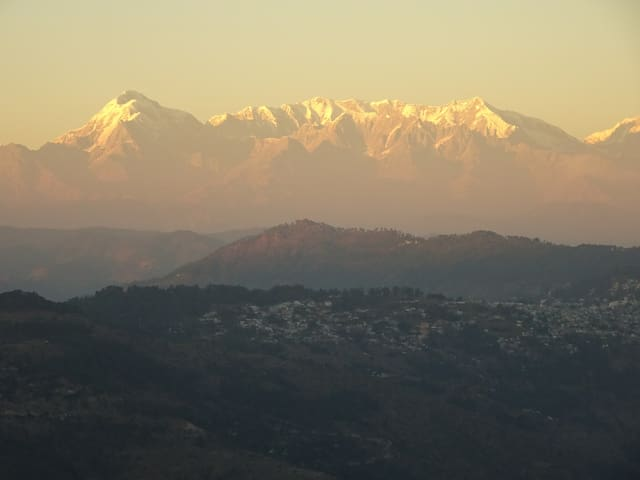 Sunset on Trishul from Sukoon, Nov 2016