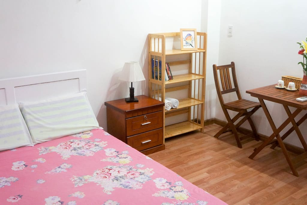 Spacious room with a comfy double bed.
