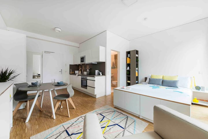 Modern apartment centrally located in Frankfurt