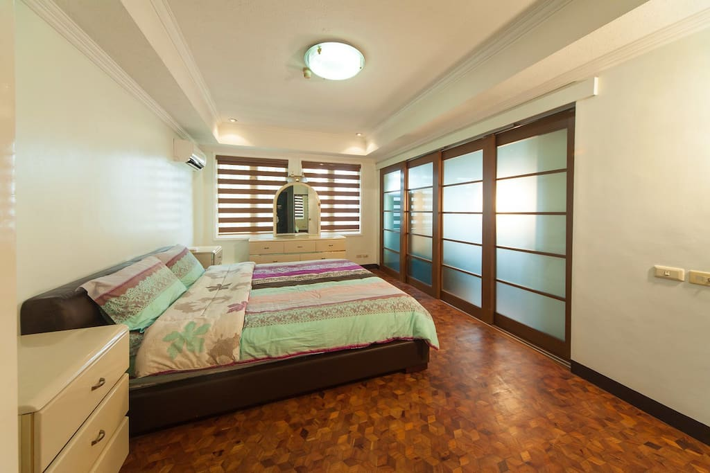 Master's Bedroom with a split type aircon