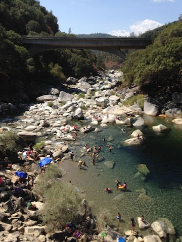 River country! The Yuba (pictured) 35 min away and the American only 15 min away.