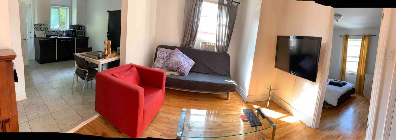 Panoramique de l'appartement.