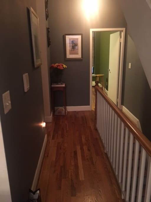 Entry way to bedroom. Just to the left is a powder room (half bathroom) access