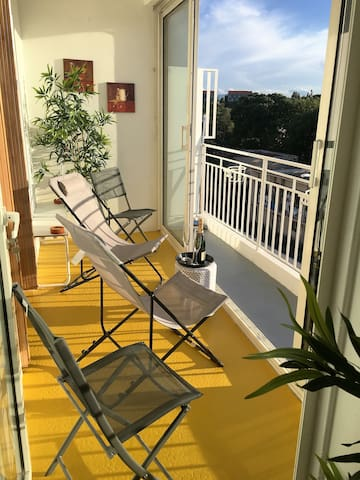 Trendy double balconied apt. with stunning views.