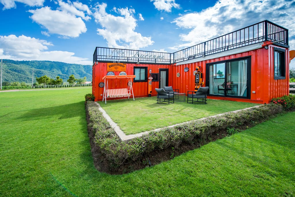 Container villa with a great view of khao yai villas for for Villa container