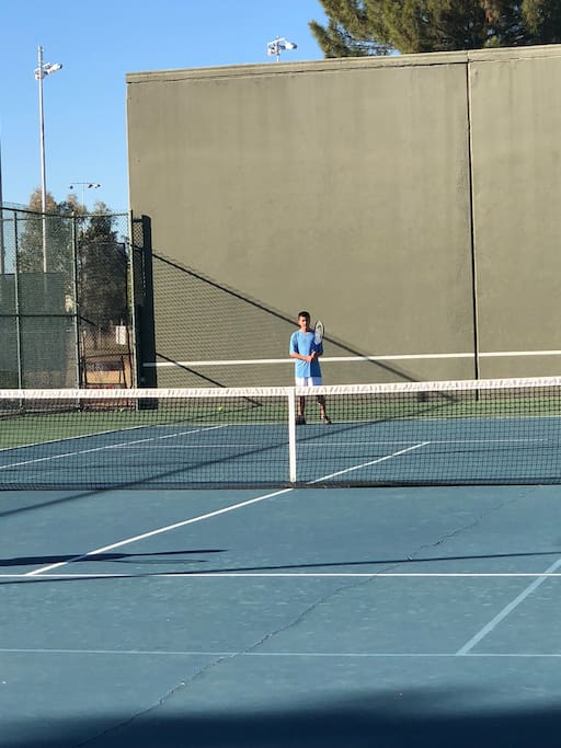 Tennis a half mile away at Indian School park.