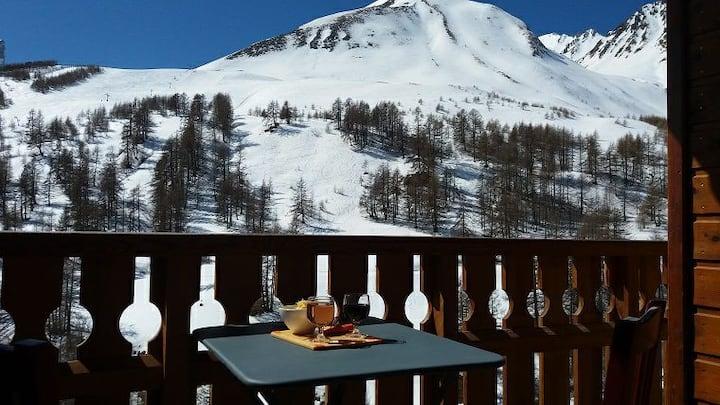 Appartement agréable dans station de ski,Belle vue