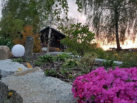 Uma estadia modesta em cabanas de fazenda