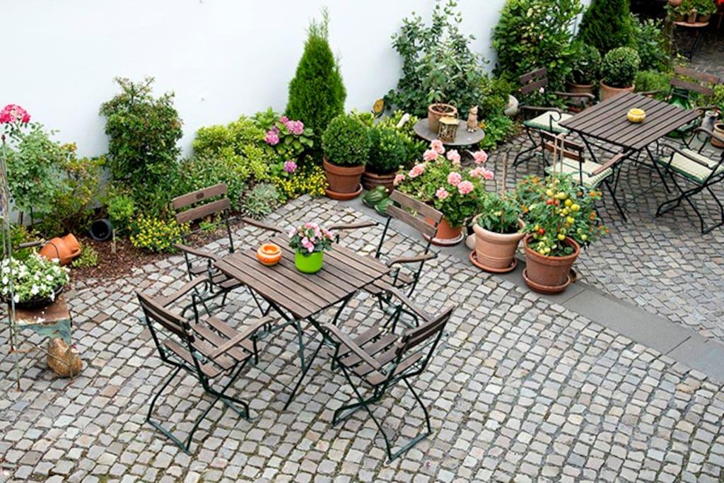 Unser Außenbereich speziell für unsere Gäste.