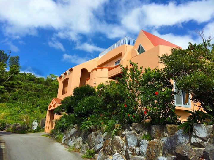 沖縄県名護市 海の見えるゲストハウス 天空okinawa 一棟貸し切り