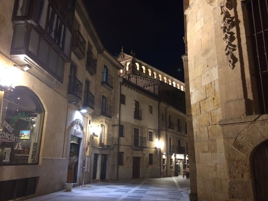 El apartamento se encuentra en este edificio, catalogado por el ayuntamiento de Salamanca como historico