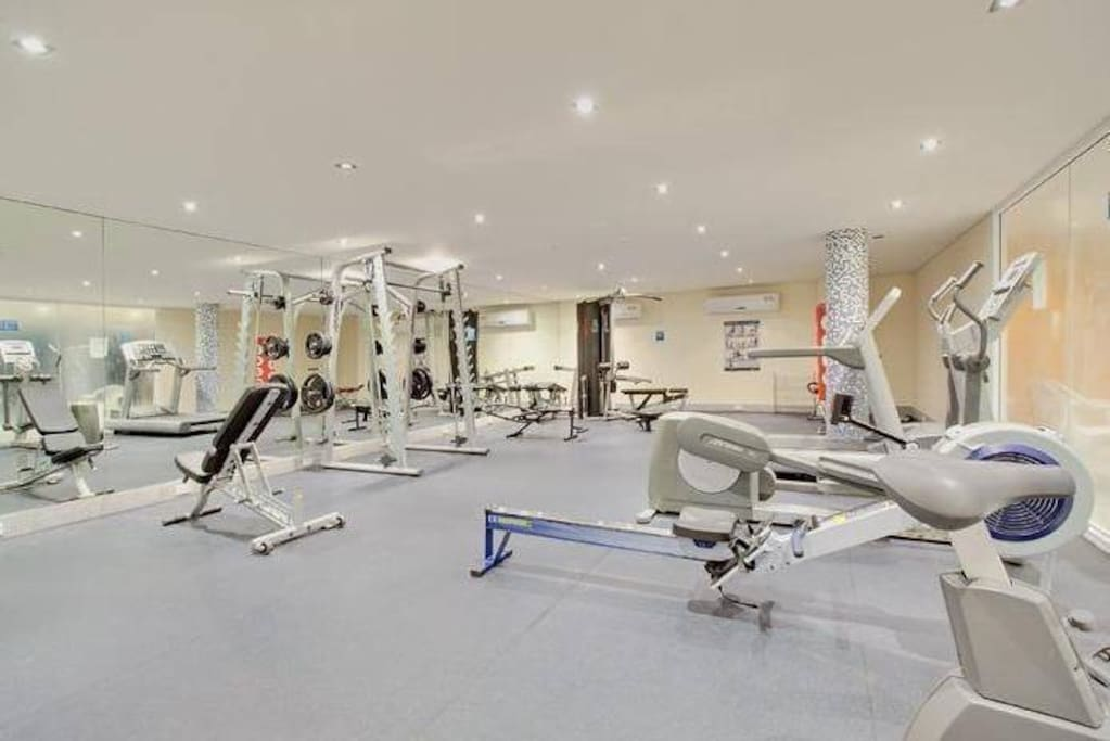 ACTIVITY  Photo of our fully equipped gymnasium. We have a better variety of exercise equipment than some resorts (hot showers available).