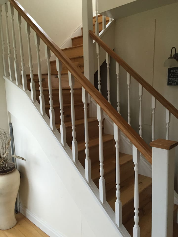 Separate stairs to the accommodation from the main family home.