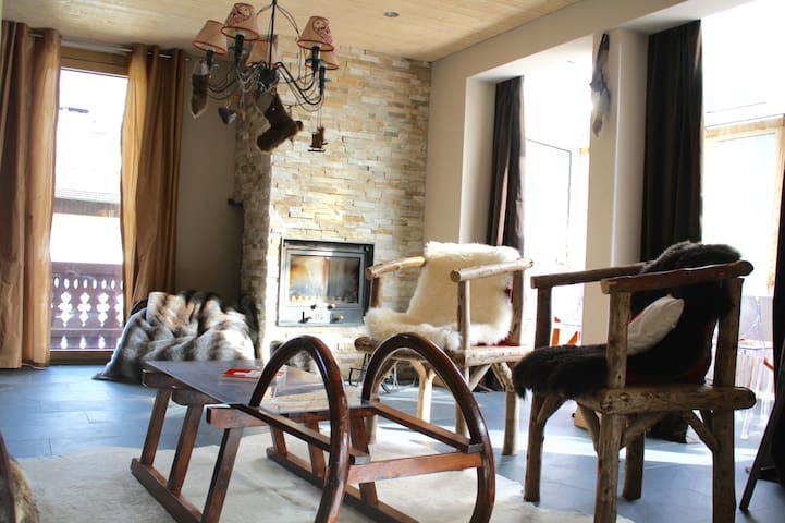 Cosy & high standing duplex in center with view! - Champéry - Apartmen