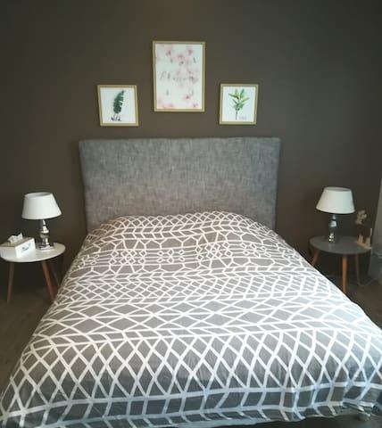 Chambre 2.  1 lit de 160cm*200 et un lit une personne 90*190