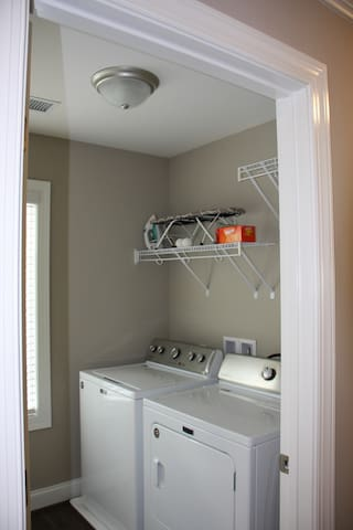Laundry room with new washer & dryer