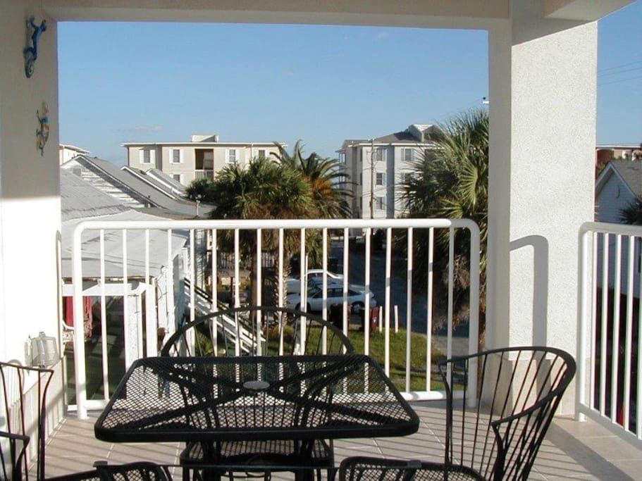 Enjoy the Ocean Breezes from your Private Balcony with View Toward the Beach