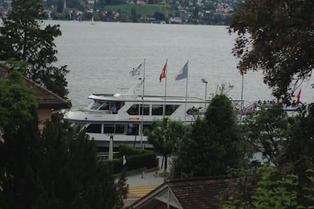 Spacious garden apartment with Zurich lake views - Thalwil - アパート