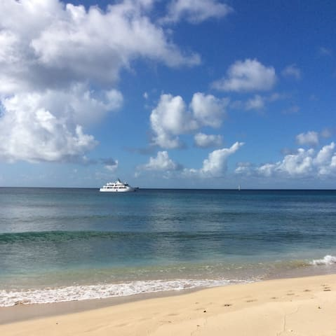 A view from a Speightstown beach.