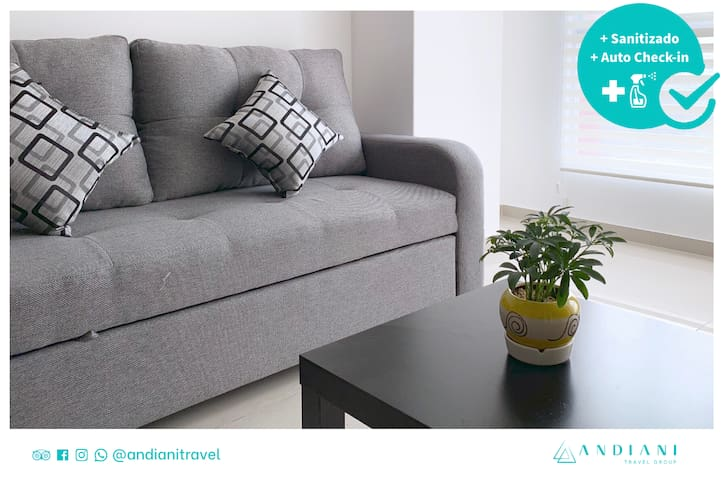 ⭐2 bedrooms, in downtown, security, wifi y more⭐