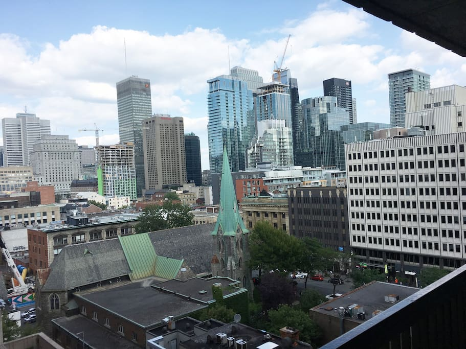 View From Balcony of Montreal City
